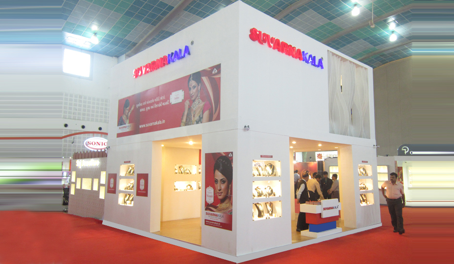 Jewellery Exhibition Stall Design : Exhibition stall fabrication services